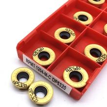 10 шт rpmt1204 m c dp5320 карбидная вставка токарная фреза инструменты