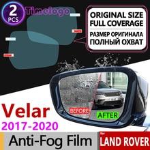 For Land Rover Range Velar 2017 2018 2019 2020 L560 Full Cover Anti Fog Film Rearview Mirror Anti-Fog Stickers Accessories