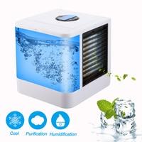 Portátil casa condicionador de ar verão multifuncional mini ventilador ar condicionado umidificador escritório refrigerador de ar 7 cores|Ar-condicionado|   -