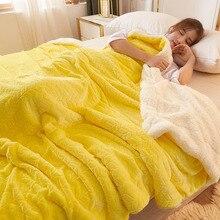 Желтый флисовые одеяла и покрывала для взрослых теплая дутая куртка на весну и зиму, декоративная наволочка супер мягкий лист королевские о...