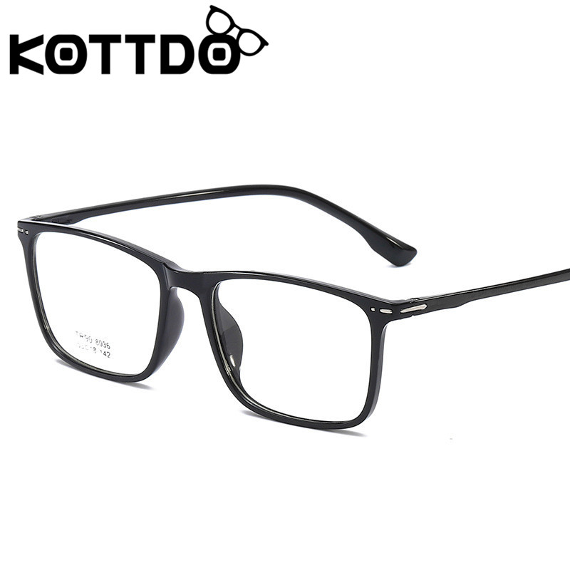 KOTTDO Vintage Square Eyeglasses Frame Women Classic Prescription Eyeglasses Frames Men Plastic Fake Glasses Frame