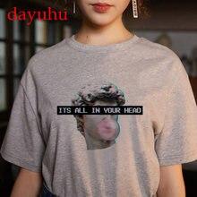 Vaporwave Women T Shirt Clothing ulzzang Aesthetic Michelangelo T-shirt Streetwear Female Harajuku 90s Tshirt korean aesthetic