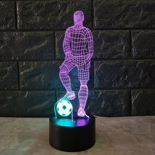 ICOCO Magic 3D Soccer Touch Table Lamp 7 Colors Changing Desk Lamp USB Powered Night Lamp Football LED Light Bedroom Decoration icoco 3d night light magic desk table lamp with glass cover led usb innovative atmosphere lighting with romantic pattern sale