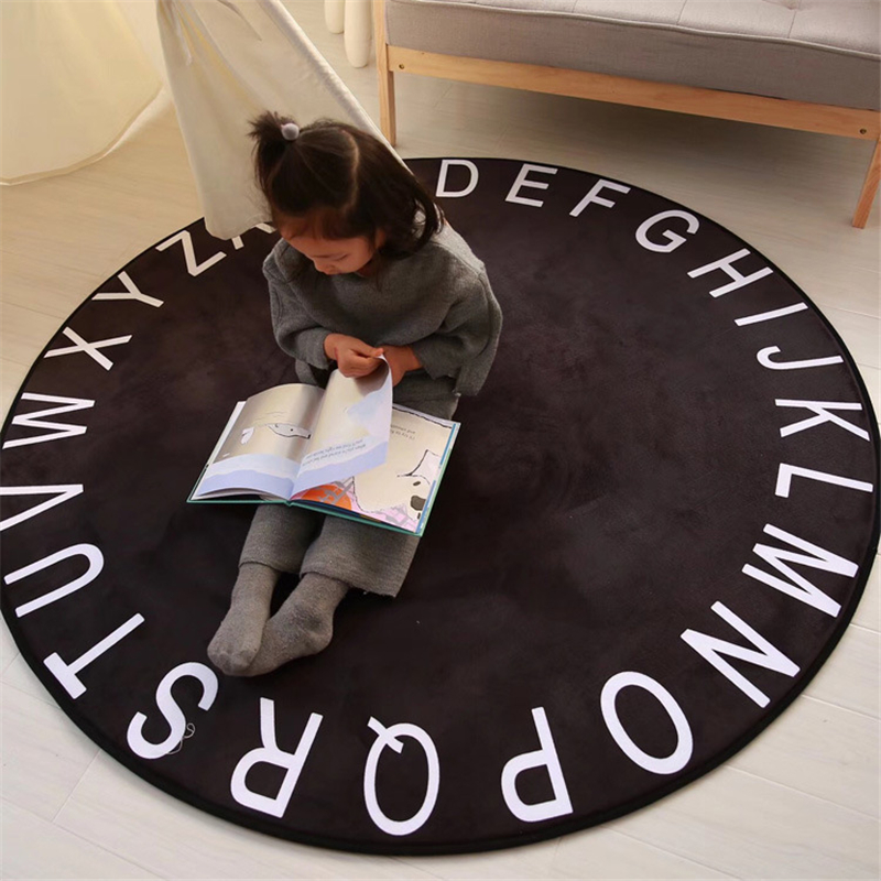 White Black Mickey Rug Children Baby Boy Girl Crawling Game Mat Carpet Indoor Cartoon  Four Season Children Bathroom Mat Gift