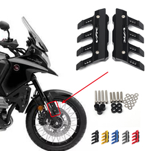 혼다 VFR1200X 오토바이 용 로고 부착 CNC 알루미늄 머드 가드 사이드 보호 블록 프론트 펜더 안티 폴드 슬라이더 액세서리