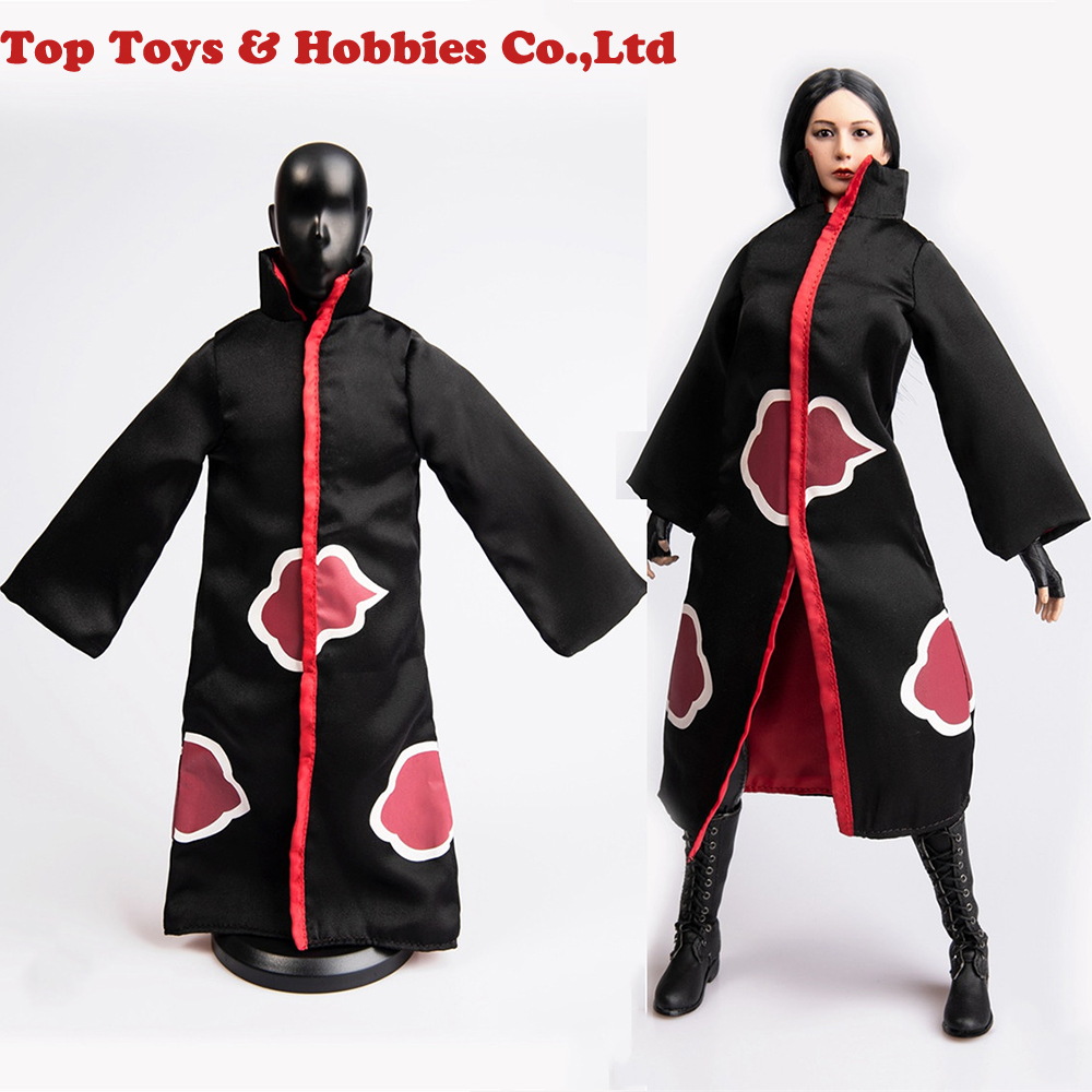 COSPLAY DIY TYM042 1/6 Female/Male Figure Clothes Accessory Windbreaker Silk Material with Red Pattern For fans collection