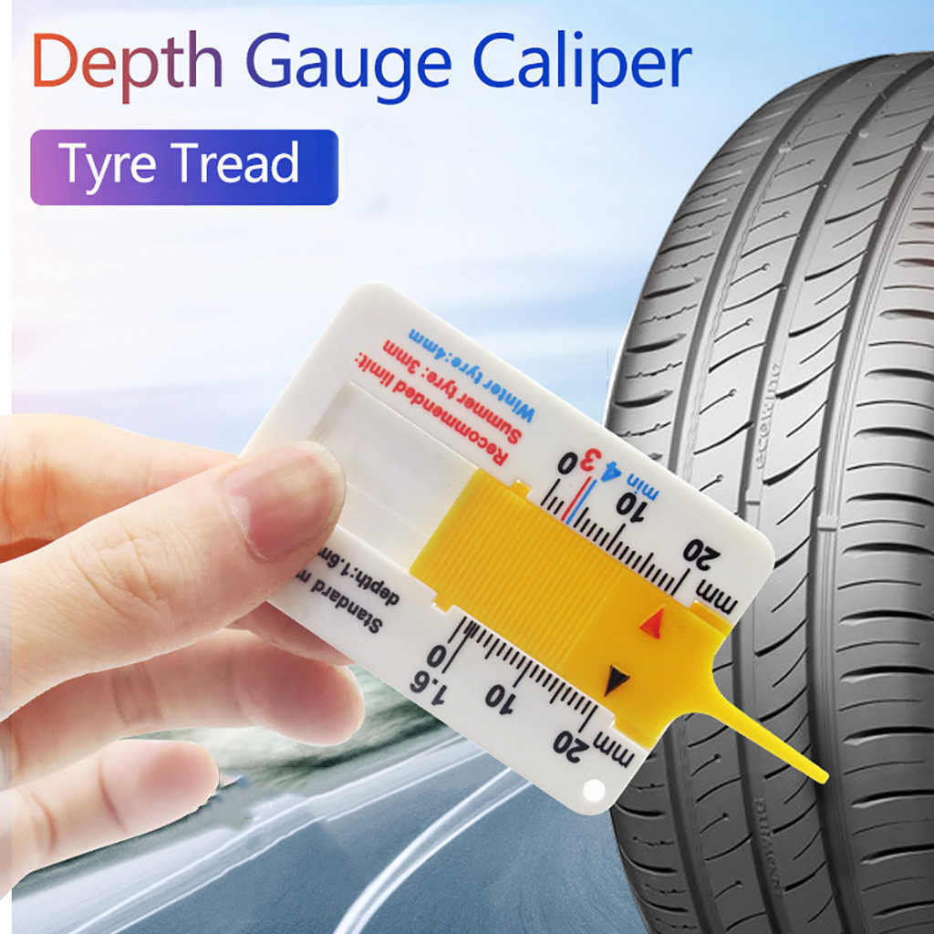 Easy to Carry 1Pcs Tyre Depth Gauge Car Tyre Tire Depth Gauge Car Tire Tread Depth Gauge Caliper