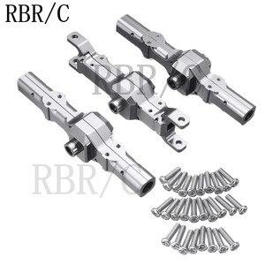 RBR/C серебристый корпус оси из нержавеющей стали для WPL MN JJRC различные дистанционное управление модификация автомобиля и обновление DIY аксес...