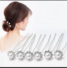 10Pcs Crytal Flower Bridal Headpieces Tiaras de Noiva Handmade Wedding Jewelry Accessories Chrildren Headress Hairpins for Bride