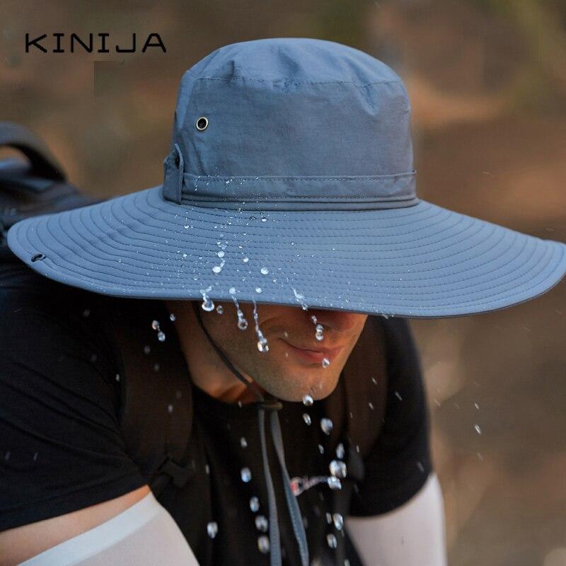 Купить уличная водонепроницаемая рыбацкая шляпа с большими полями панама