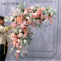 JAROWN Flower Row Centerpiece Flower Ball DIY Wedding Stage Decoration Artificial Flowers Silk Arch Rose Peony Home Party Decor