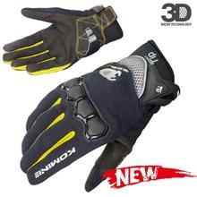 KOMINE – gants de Moto pour hommes, respirant, maille 3D, Motocross, tout-terrain, Moto de rue, équipement de protection, été, GK-162