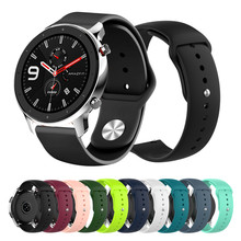 Soft Silicone Sport watchband for Xiaomi Huami Amazfit GTR 47mm 42mm smart watch accessories strap men women belt wrist band(China)