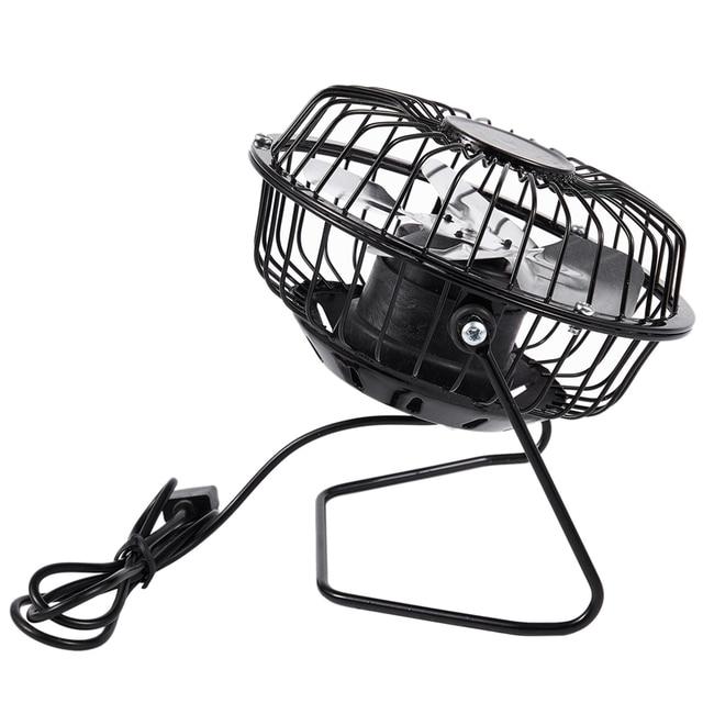 AD-Hohe Qualität 4 Zoll Kühlung Lüftung Fan USB Solar Powered Panel Eisen Fan Für Home Office Outdoor Reisen angeln