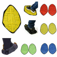 reusable step in sock portable auto package overshoes waterproof shoe covers shoe boot cover automatic Reusable Step in Sock Portable Auto-Package Overshoes Waterproof Shoe Covers Shoe Boot Cover Automatic