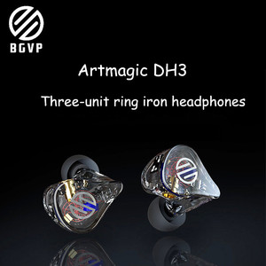 Bgvp dh3 MMCX Connector In Ear Monitors HIFI Earphone Hi-res Triple Driver Earphone(China)