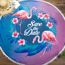 CUPSHE بوهو مطبوعة مناشف الشاطئ 2020 المرأة عطلة ستوكات منشفة استحمام مستديرة النسيج مع شرابة 8 أنماط