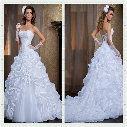 Vestido De Noiva New Elegant A-Line Sweetheart Beading Tulle And Organza Bridal Gowns Custom-made Mother Of The Bride Dresses