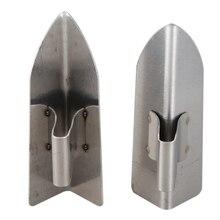 1 пара из нержавеющей стали правый угол ремонт скребковый нож декоративный шпатель штукатурный инструмент уголок для каменщика