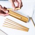 1 шт. многоразовые бамбуковые соломки для вечеринки  органические соломки для питья  экологически чистые натуральные деревянные соломки дл...
