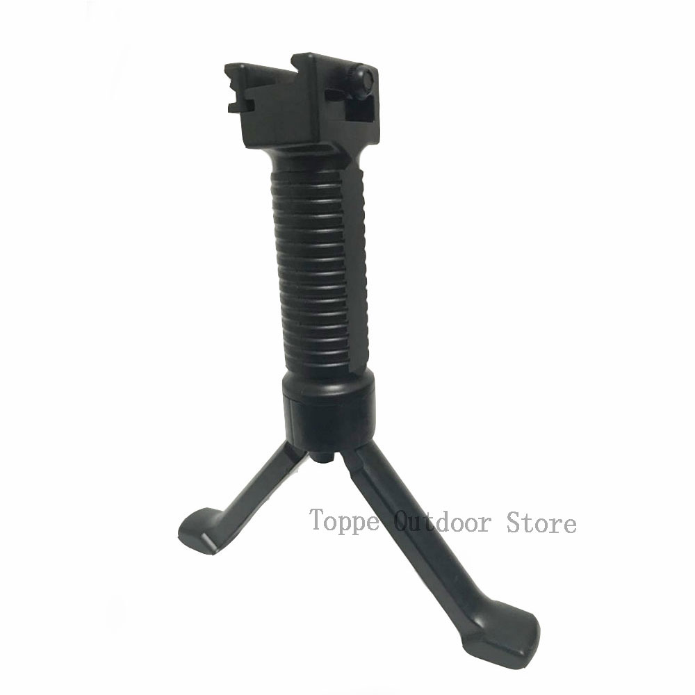 TOtrait New Nylon Grip Vertical Tactical Fore Grip Bipod Pod Picattinny Weaver Rail Rifle Foregrip For Paintball Shooting