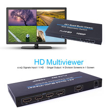 Completamente hd 1080p 4x1 multiviewer quad multi-viewer hdmi-compatível hdtv conversor de vídeo 4 telas de tv divisor interruptor sem emenda