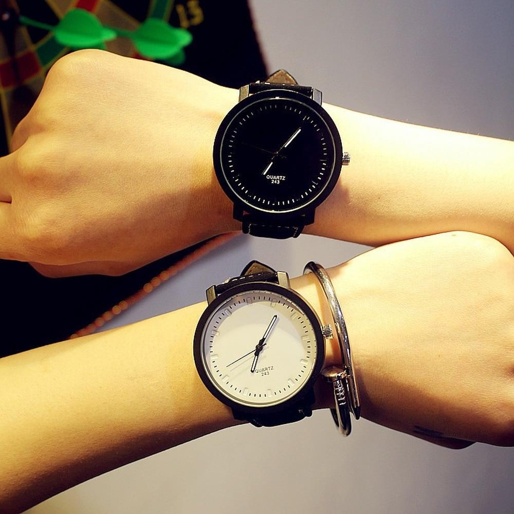 Watches Men Women Hot Fashion Lovers Casual Leather Strap Quartz Watch Women's Dress Couple Watch Clock Gifts Relogios Femininos