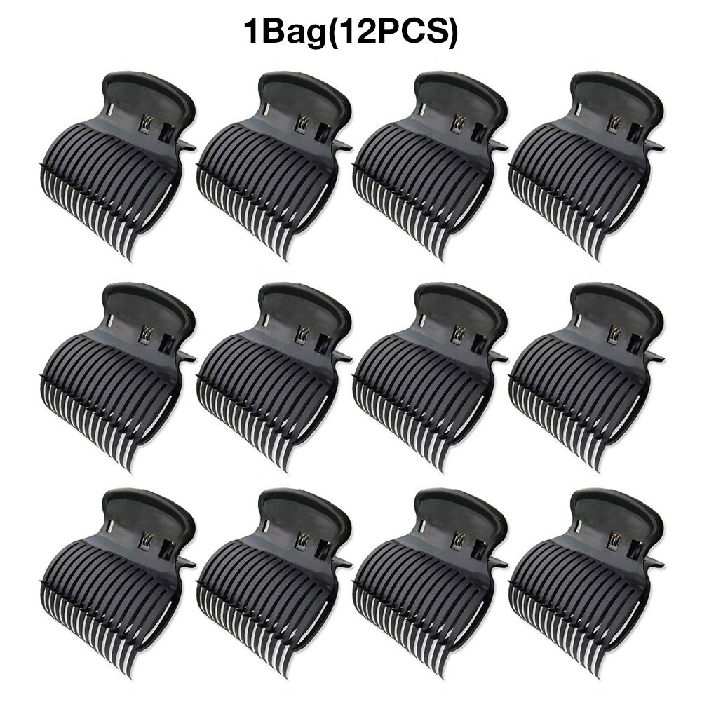 12PCS Hot Roller Clips For Hair Curler Claw Clip Replacement Hair Section Styling For Women Girls