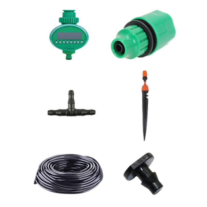15M Micro Drip Irrigation Set With Water Timer Misting Sprinkler Dripper Plant Self Watering Garden Water Irrigation Kits|Water Cans| |  - title=