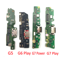 10PCS Original New USB Charger Port Connector Board Flex Cable With Microphone For Moto G4 G5 G6 Play G10 G7 Power E6 G30 G Play