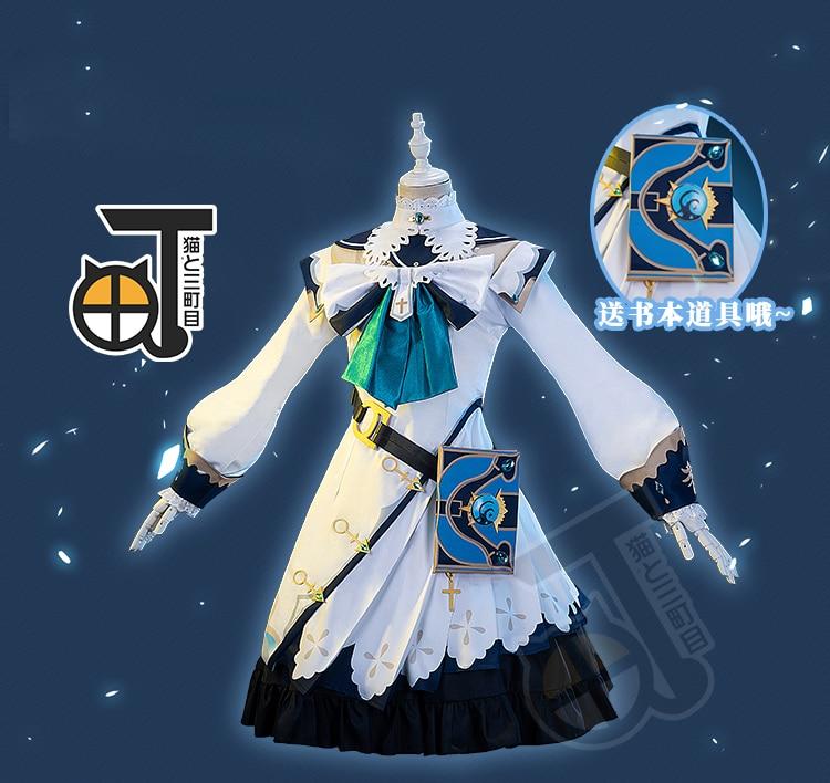 Anime Genshin Impact Barbara Cosplay Halloween Costume Unisex Christmas Gift