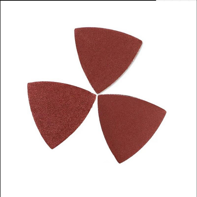 Free Shipping 20PCS SET Triangular Sandpaper Sand Paper 60# For Coarse Grinding For Most Of Oscillating Mulitifunctional Tools