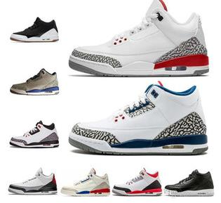 2020 New Retro 3 Men Basketball Shoes White BLACK CEMENT 3M Sports Sneakers Designer Trainers Outdoor size 7-13
