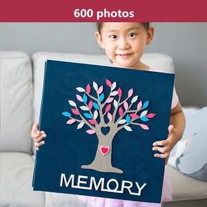 Image 5 - PA5 6 pouces album photo 700 photos type de page enfants famille album créatif feutre pâte bande dessinée couverture bébé grandir album