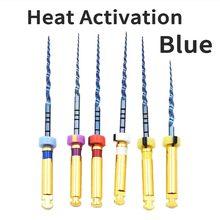 Diş enstrüman isı aktivasyon mavi dosyaları endo dosya motor kullanımı döner dosyaları endodontik kök kanal NITI diş hekimi aracı