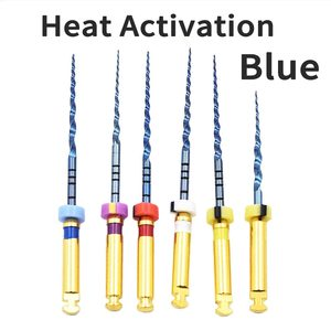 Image 1 - เครื่องมือทันตกรรมความร้อนเปิดใช้งานสีฟ้าไฟล์Endoแฟ้มใช้เครื่องยนต์โรตารี่endondontic root Canal NITIเครื่องมือทันตแพทย์