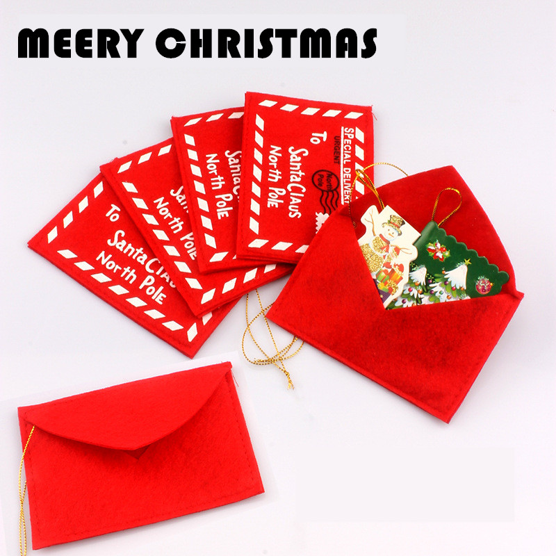 Non-woven Fabric Christmas Envelopes For Invitations Greeting Envelopes Postcards Candy Bag Red Bag Gifts
