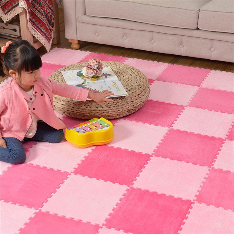 10Pcs/Lot Comfortable Plush Rug Toys Eva Foam Baby Gym Mat Kids Rug Puzzle Kid Game Mat Alfombra Infantil Floor Playmat 30*30 CM