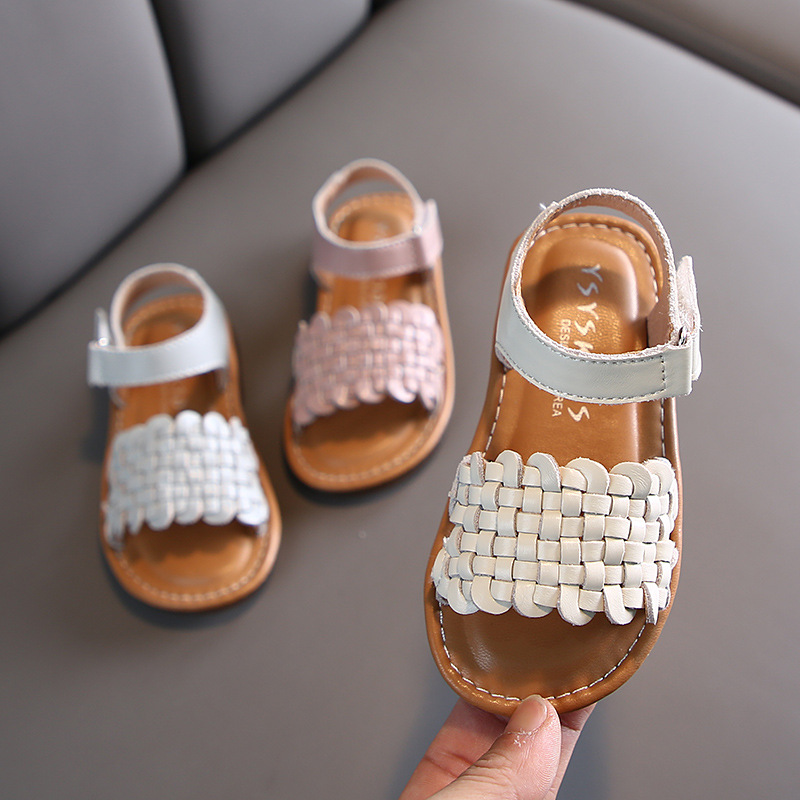 Summer Girls Casual Genuine Leather Sandals Children Baby Soft Bottom Beach Shoes Children's Shoes  Baby Girl Sandals