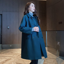 Autumn Winter Coats Jackets Woolens Overcoat  Womens Wool Long Tops