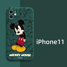Disney mickey minnie stitch capa macia com tudo incluído para iphone 11 pro max xr xs max 7 8 plus x se capa traseira do telefone de corpo inteiro