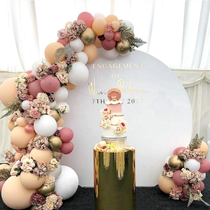 Morandi cor balão conjunto de corrente aniversário festa de casamento decoração suprimentos macaron balão combinação