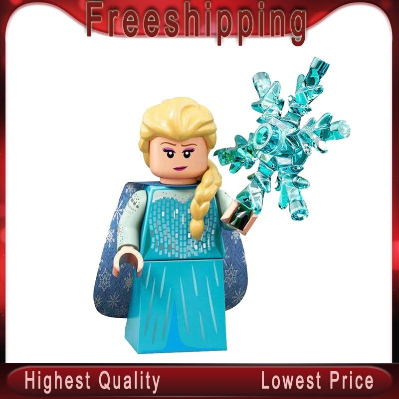 Legoed Elsa Anna Playmobil Maleficent Juguetes Girls Friends Emma Mia Dancet Princess Snow White Building Blocks Kids Toys