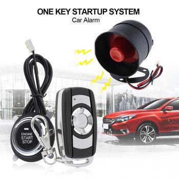 Universal Durable Car AlarmS System Remote Start Stop Engine System with Auto Central Lock and Keyless Entry  5A with Key