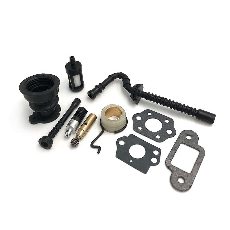 HUNDURE Intake Manifold Boot Oil Pump Worm Gear Fuel Oil Hose Filter Kit For STIHL 025 023 021 MS250 MS230 MS210 Chainsaw Parts