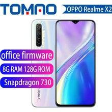 Офисный мобильный телефон firmwar realme X2 X 2 6,4 'AMOLED экран Snapdragon 730G 64-мегапиксельная четырехъядерная камера NFC CellphoneVOOC быстрое зарядное устройство ...