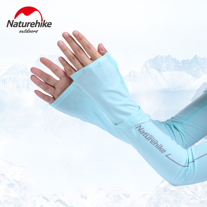 Naturehike Outdoor <font><b>Arm</b></font> <font><b>Sleeves</b></font> <font><b>Long</b></font> <font><b>Gloves</b></font> Sun UV Protection Hand Protector Cover <font><b>Arm</b></font> <font><b>Sleeves</b></font> Ice Silk Sunscreen NH19X004-T image