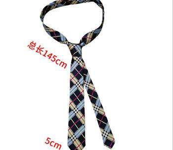 Billiards square lattice dot stripe ins narrow tie black long style boys and women cool hip hop I
