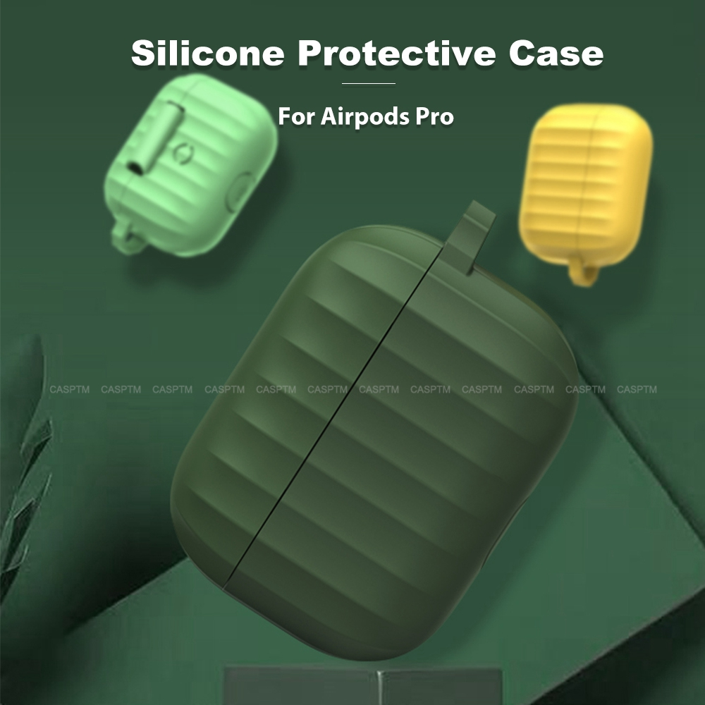 Stripe Shockproof Cover For Apple Airpods Pro Wireless Bluetooth Earphone Case For AirPods 3 Protector Fundas Shell Accessories