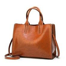 Leather Handbags Big Women Handbag High Quality Casual Female Bags Trunk Tote Spanish Brand Shoulder Bag Ladies Large Bolsos